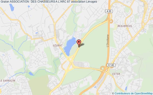 plan association Association  Des Chasseurs A L'arc 87