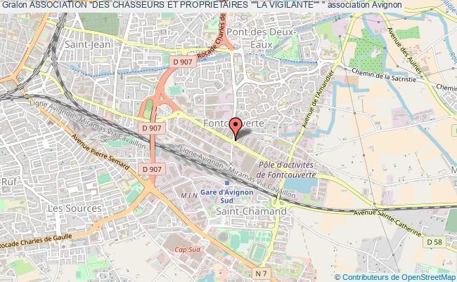 """plan association Association """"des Chasseurs Et Proprietaires """"""""la Vigilante"""""""" """""""