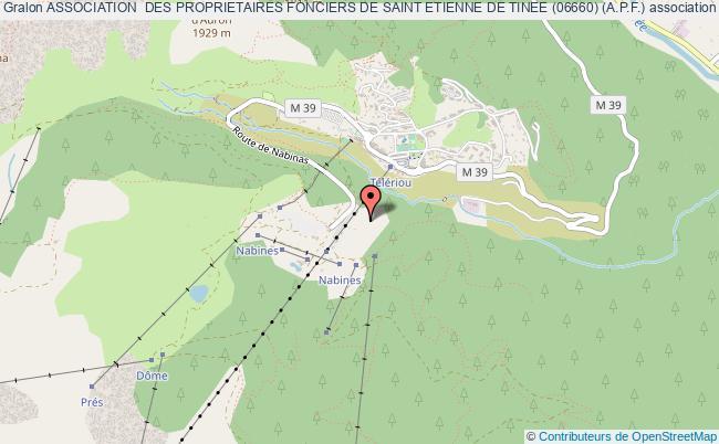 plan association Association  Des Proprietaires Fonciers De Saint Etienne De Tinee (06660) (a.p.f.) Saint-Étienne-de-Tinée