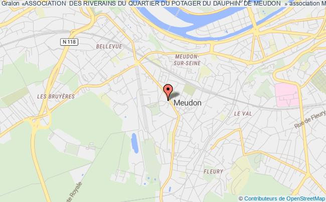 «ASSOCIATION  DES RIVERAINS DU QUARTIER DU POTAGER DU DAUPHIN  DE MEUDON  »