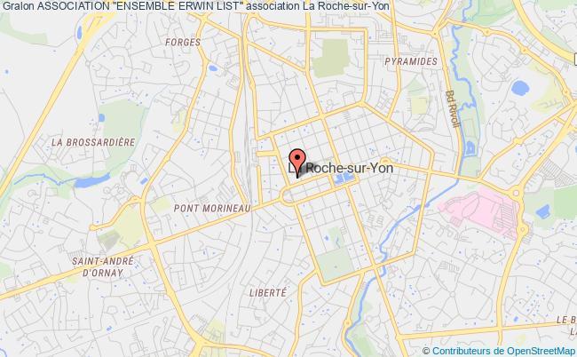 """plan association Association """"ensemble Erwin List"""" La    Roche-sur-Yon"""