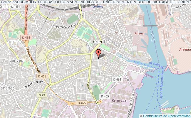 plan association Association 'federation Des Aumoneries De L'enseignement Public Du District De Lorient'