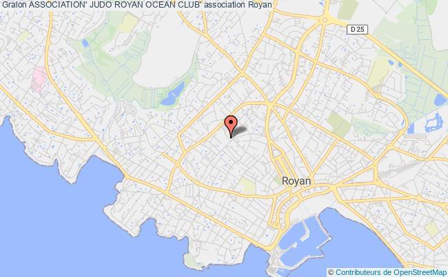 plan association Association' Judo Royan Ocean Club' Royan