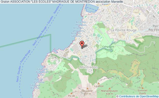 """plan association Association """"les Écoles"""" Madrague De Montredon Marseille"""