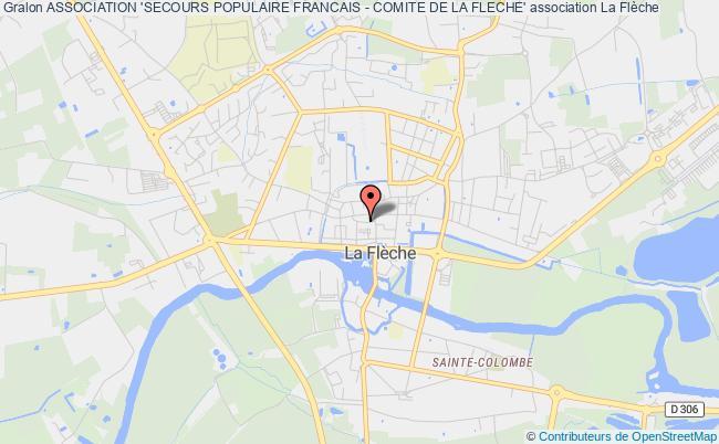 plan association Association 'secours Populaire Francais - Comite De La Fleche'