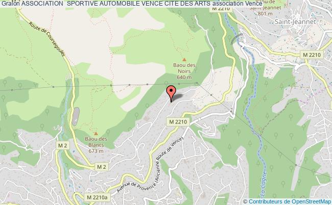 plan association Association  Sportive Automobile Vence Cite Des Arts