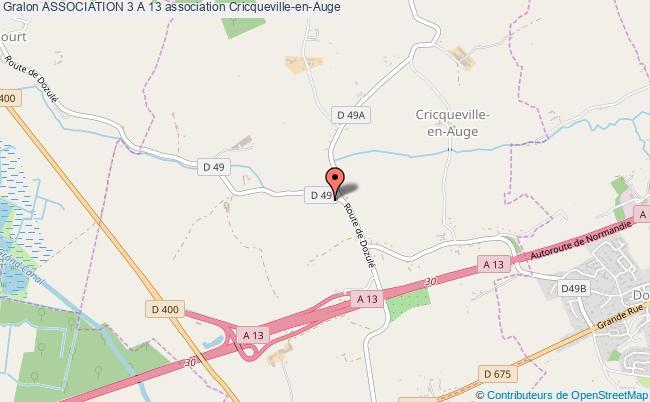 plan association Association 3 A 13 Cricqueville-en-Auge