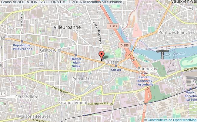 plan association Association 323 Cours Emile Zola