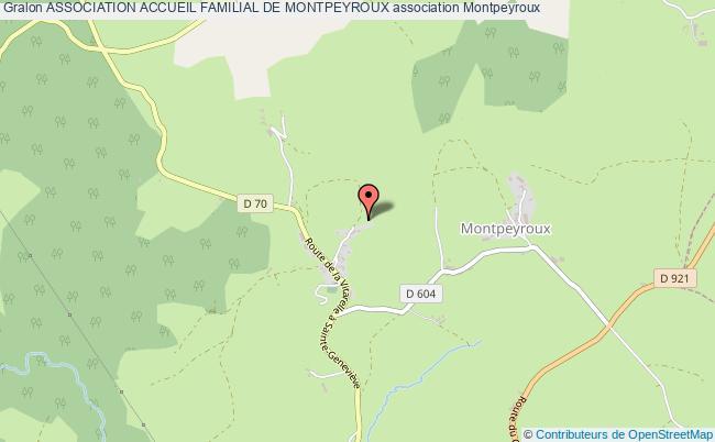 plan association Association Accueil Familial De Montpeyroux