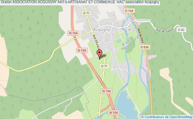 plan association Association Acquigny Arts Artisanat Et Commerce '4ac'
