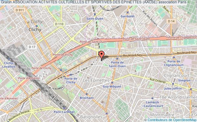 plan association Association Activites Culturelles Et Sportives Des Epinettes (aacse)