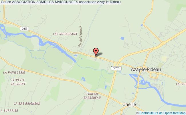 plan association Association Admr Les Maisonnees Azay-le-Rideau