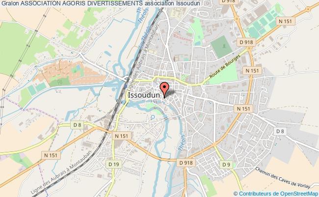 plan association Association Agoris Divertissements Issoudun
