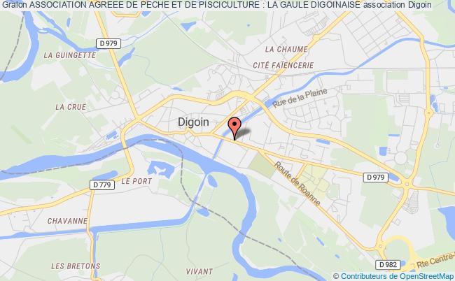 plan association Association Agreee De Peche Et De Pisciculture : La Gaule Digoinaise