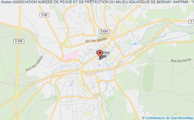 """plan association Association Agreee De Peche Et De Protection Du Milieu Aquatique De Bernay -aappma - """"association De Peche De Bernay"""""""