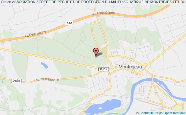 plan association Association Agreee De Peche Et De Protection Du Milieu Aquatique De Montrejeau Et Du Haut-comminges