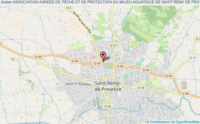 plan association Association Agreee De PÊche Et De Protection Du Milieu Aquatique De Saint Remy De Provence