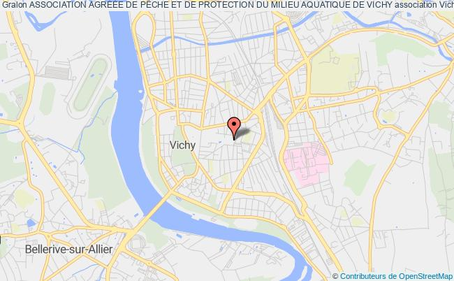 plan association Association AgrÉÉe De PÊche Et De Protection Du Milieu Aquatique De Vichy