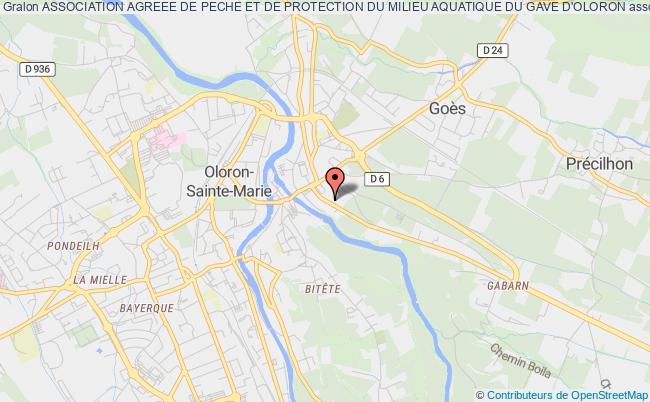 plan association Association Agreee De Peche Et De Protection Du Milieu Aquatique Du Gave D'oloron