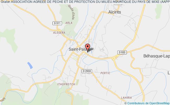 plan association Association Agreee De Peche Et De Protection Du Milieu Aquatique Du Pays De Mixe (aappma-pays De Mixe)