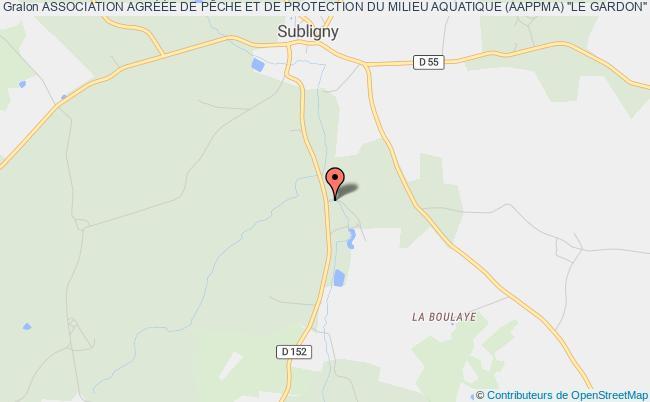 plan association Association Agreee Pour La Peche Et La Protection Du Milieu Aquatique - A.a.p.p.m.a - ' La Salereine ' De Subligny Subligny