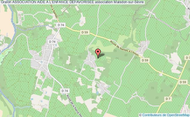 plan association Association Aide A L'enfance Defavorisee Maisdon-sur-Sèvre