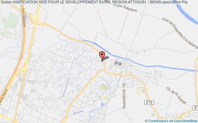 plan association Association Aide Pour Le Developpement Rural Region Attogon  / Benin Gonesse