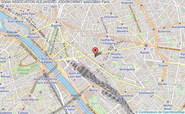 plan association Association Alejandro Jodorowsky Paris