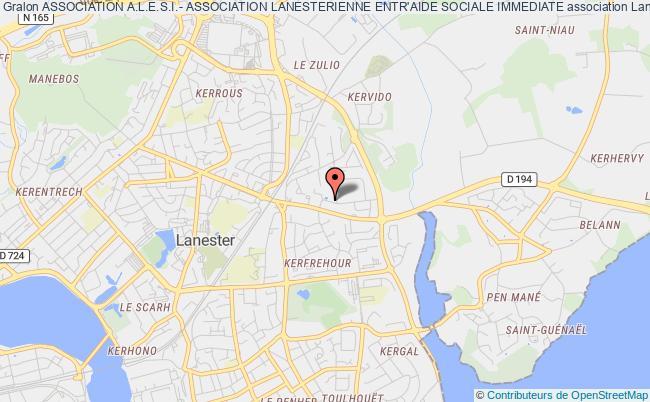 plan association Association A.l.e.s.i.- Association Lanesterienne Entr'aide Sociale Immediate