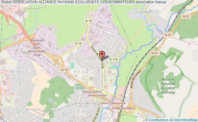 plan association Association Alliance Paysans Ecologiste Consommateurs Vesoul