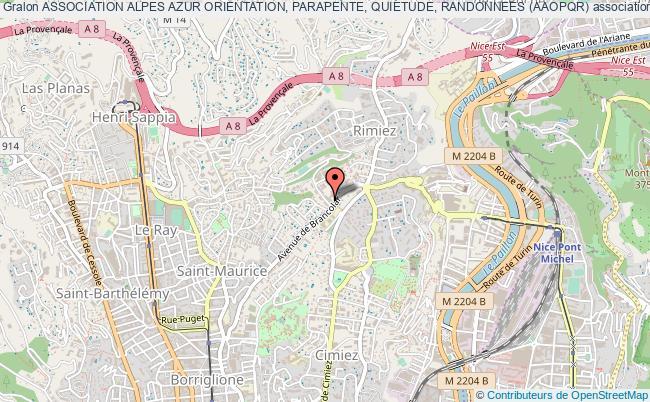 plan association Association Alpes Azur Orientation, Parapente, Quietude, Randonnees (aaopqr) Nice