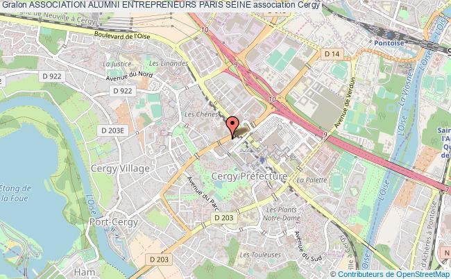 plan association Association Alumni Entrepreneurs Paris Seine cergy pontoise cedex