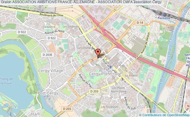 plan association Association Ambitions France-allemagne - Association Cmfa Cergy-Pontoise Cedex