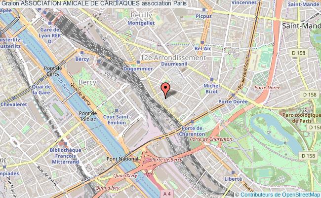 plan association Association Amicale De Cardiaques Paris 12e