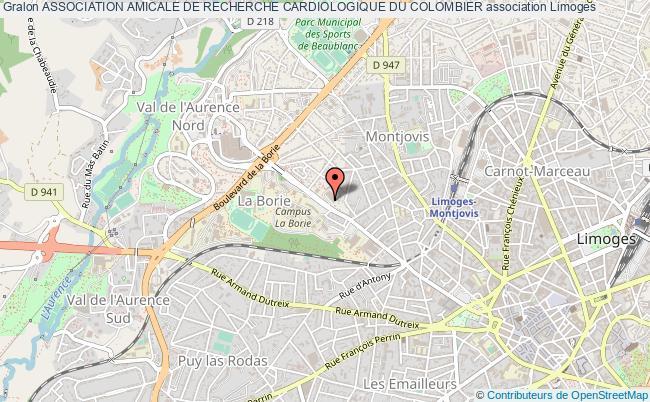 plan association Association Amicale De Recherche Cardiologique Du Colombier