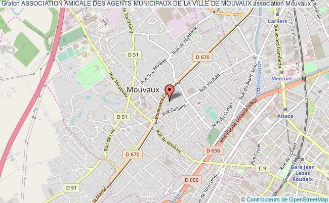 plan association Association Amicale Des Agents Municipaux De La Ville De Mouvaux
