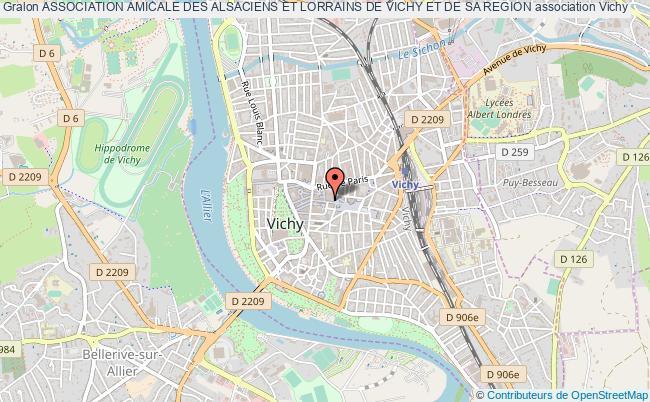 plan association Association Amicale Des Alsaciens Et Lorrains De Vichy Et De Sa Region