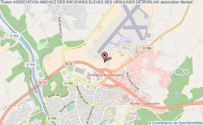 plan association Association Amicale Des Anciennes Eleves Des Ursulines De Morlaix Morlaix