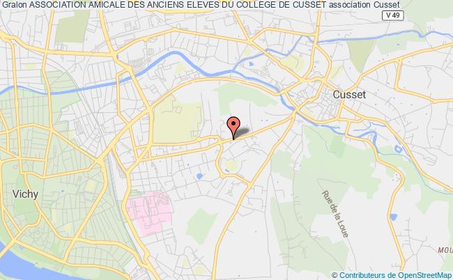 plan association Association Amicale Des Anciens Eleves Du College De Cusset