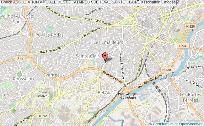 plan association Association Amicale Des Locataires Subreval Sainte Claire