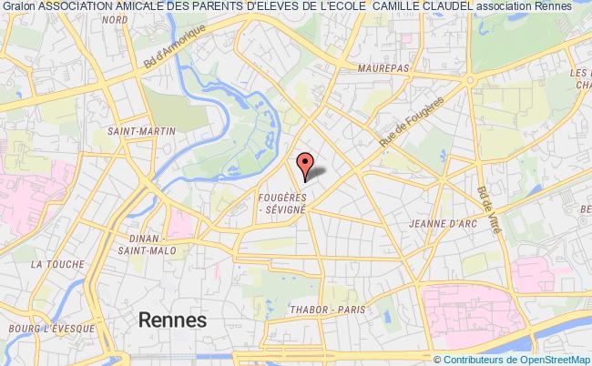 plan association Association Amicale Des Parents D'eleves De L'ecole  Camille Claudel