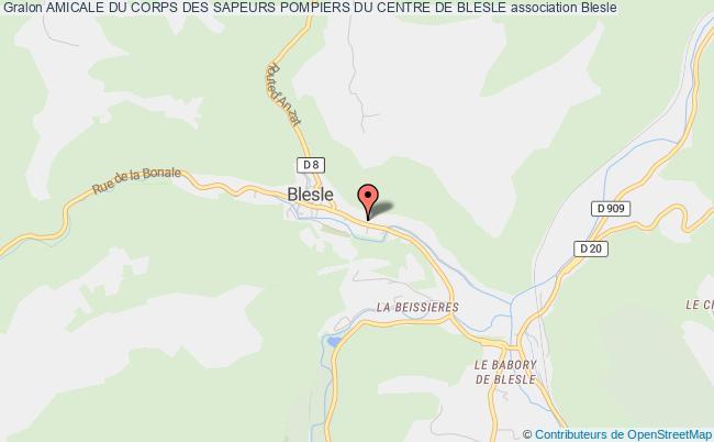 plan association Association Amicale Do Corps Des Sapeurs-pompiers De Blesle Blesle