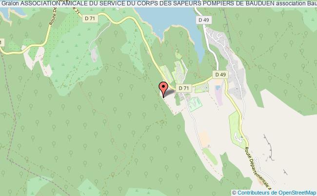 plan association Association Amicale Du Service Du Corps Des Sapeurs Pompiers De Bauduen