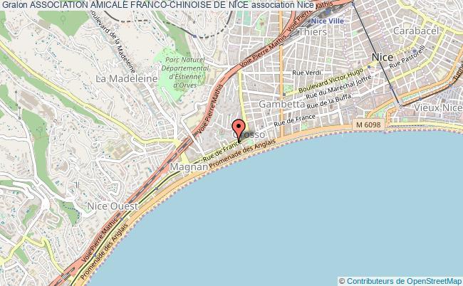 plan association Association Amicale Franco-chinoise De Nice Nice