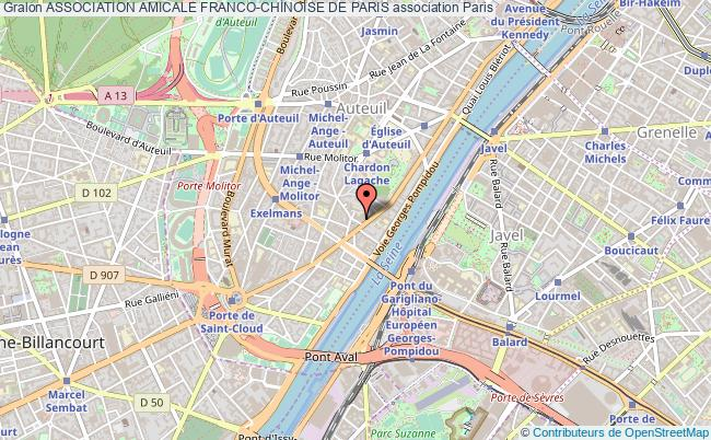 plan association Association Amicale Franco-chinoise De Paris Paris