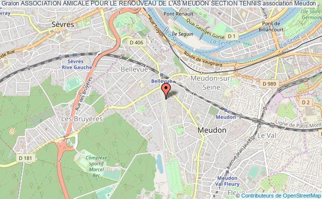 plan association Association Amicale Pour Le Renouveau De L'as Meudon Section Tennis