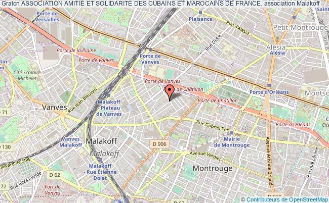 plan association Association AmitiÉ Et SolidaritÉ Des Cubains Et Marocains De France. Malakoff