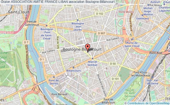 plan association Association AmitiÉ France-liban Boulogne-Billancourt