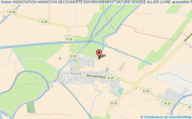 plan association Association Animation Decouverte Environnement Nature Vendee Allier Loire
