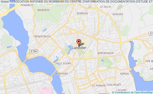 plan association Association Antenne Du Morbihan Du Centre D'information De Documentation D'etude Et De Formation Des Elus (cidefe)